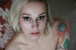 Beautiful girl with tattoo