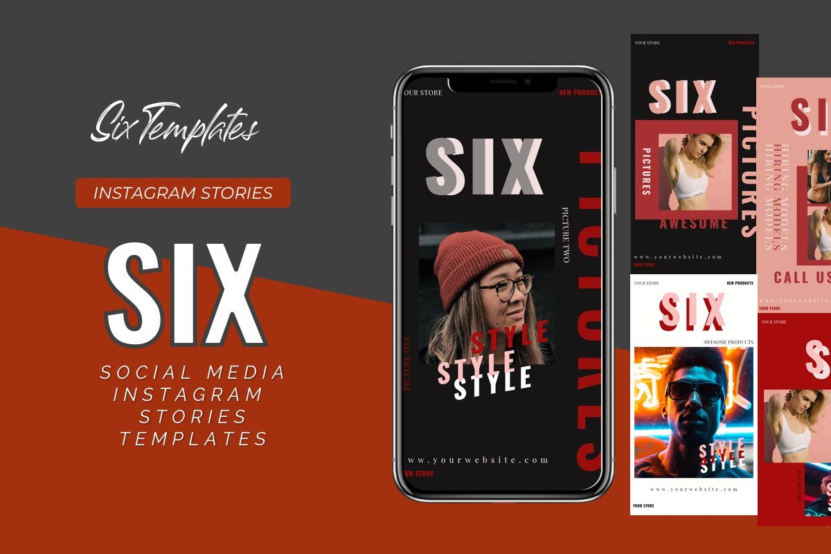 Six Instagram Stories Template