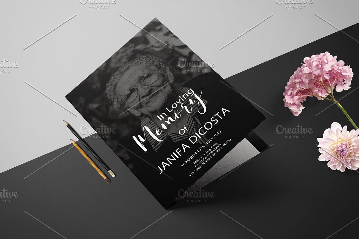 Funeral Program Template-V913 in Brochure Templates