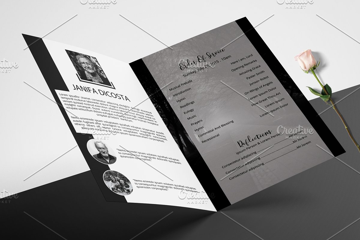 Funeral Program Template-V913 in Brochure Templates - product preview 1