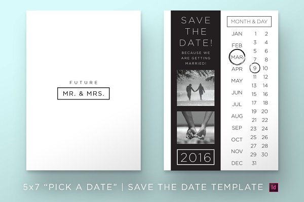 Pick a Date | Save the Date Templat…