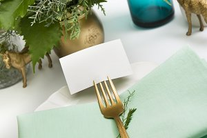 christmas place setting,card