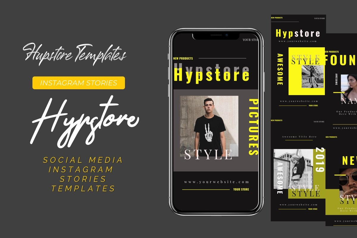Hypstore Instagram Stories Template.
