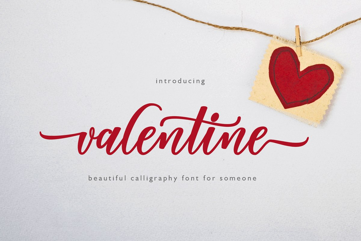 Valentine ~ Script Fonts ~ Creative Market