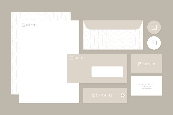 Minimal Brand Identity Mockup Ver.1