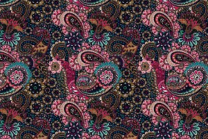 4 Paisley Floral Patterns