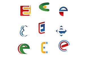 Letter E symbols