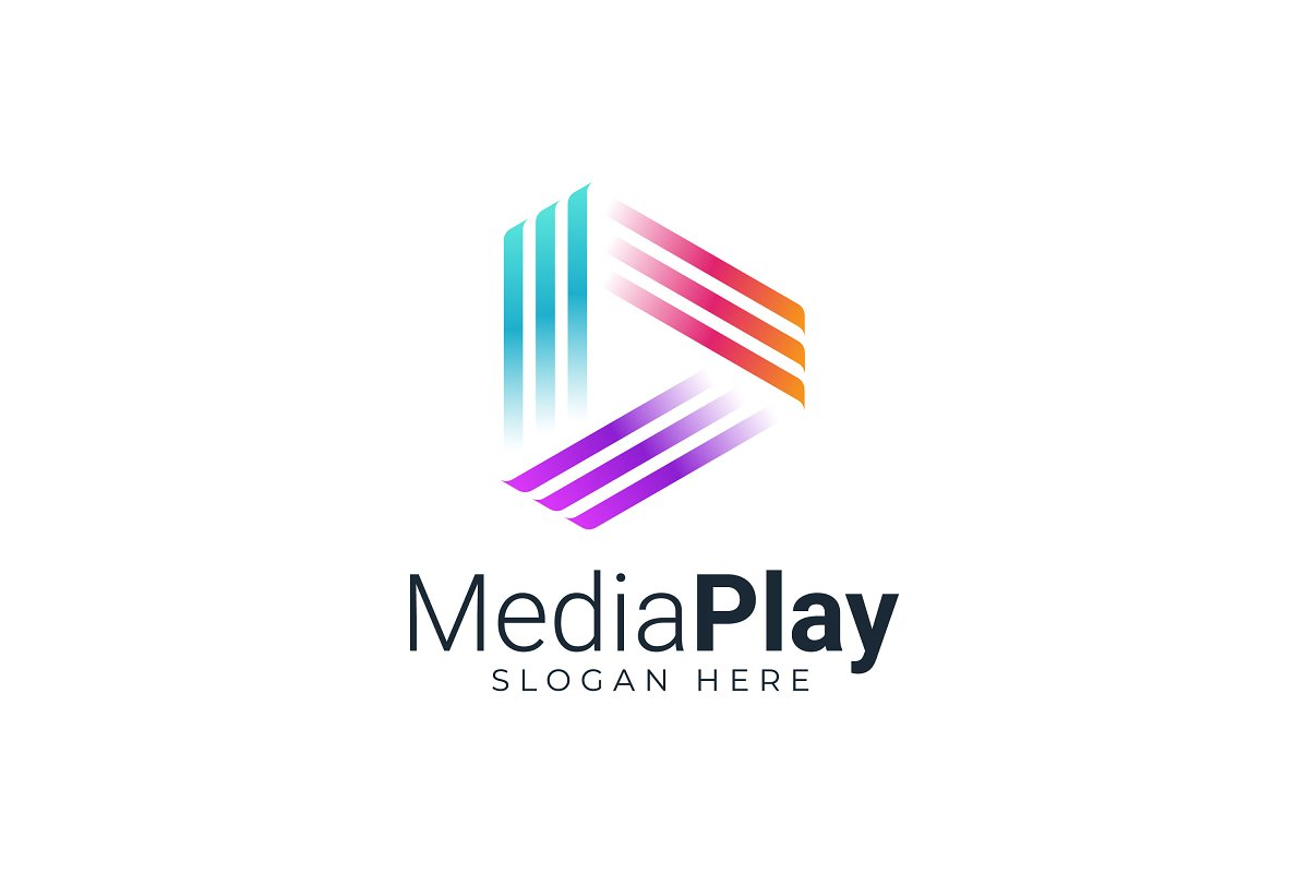 Play Media Button Symbol Logo Icon
