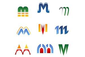 Alphabet letter M