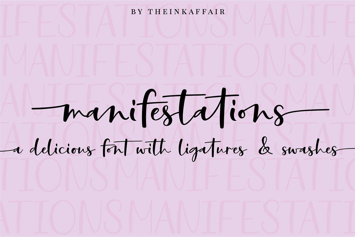 Manifestations Script Font