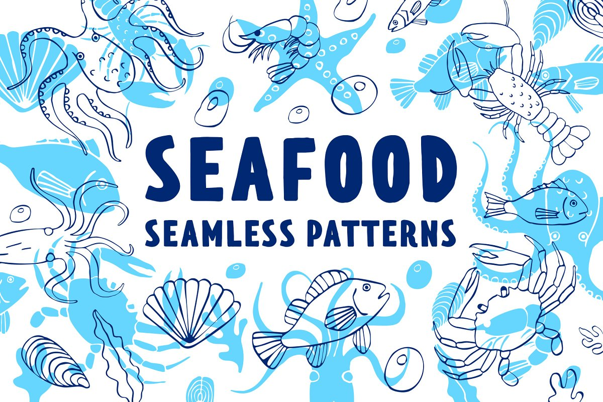 Seafood patterns