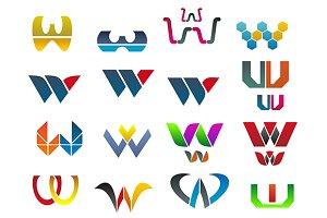Symbols of letter W