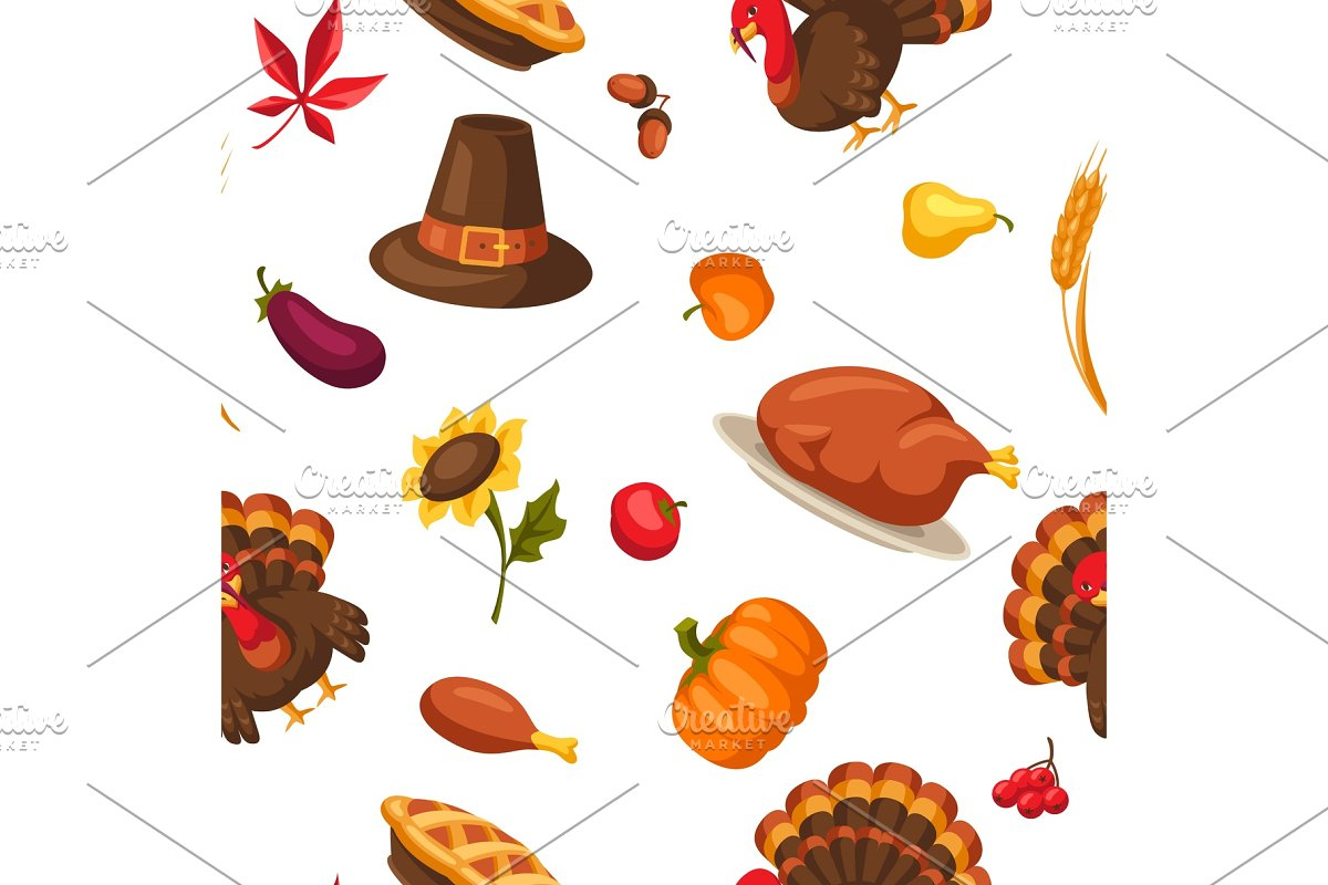 Happy Thanksgiving Day seamless