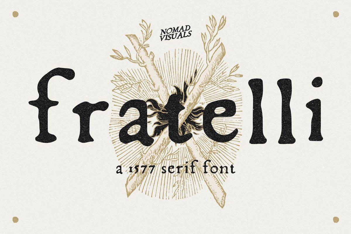 Fratelli - Serif font + Extras