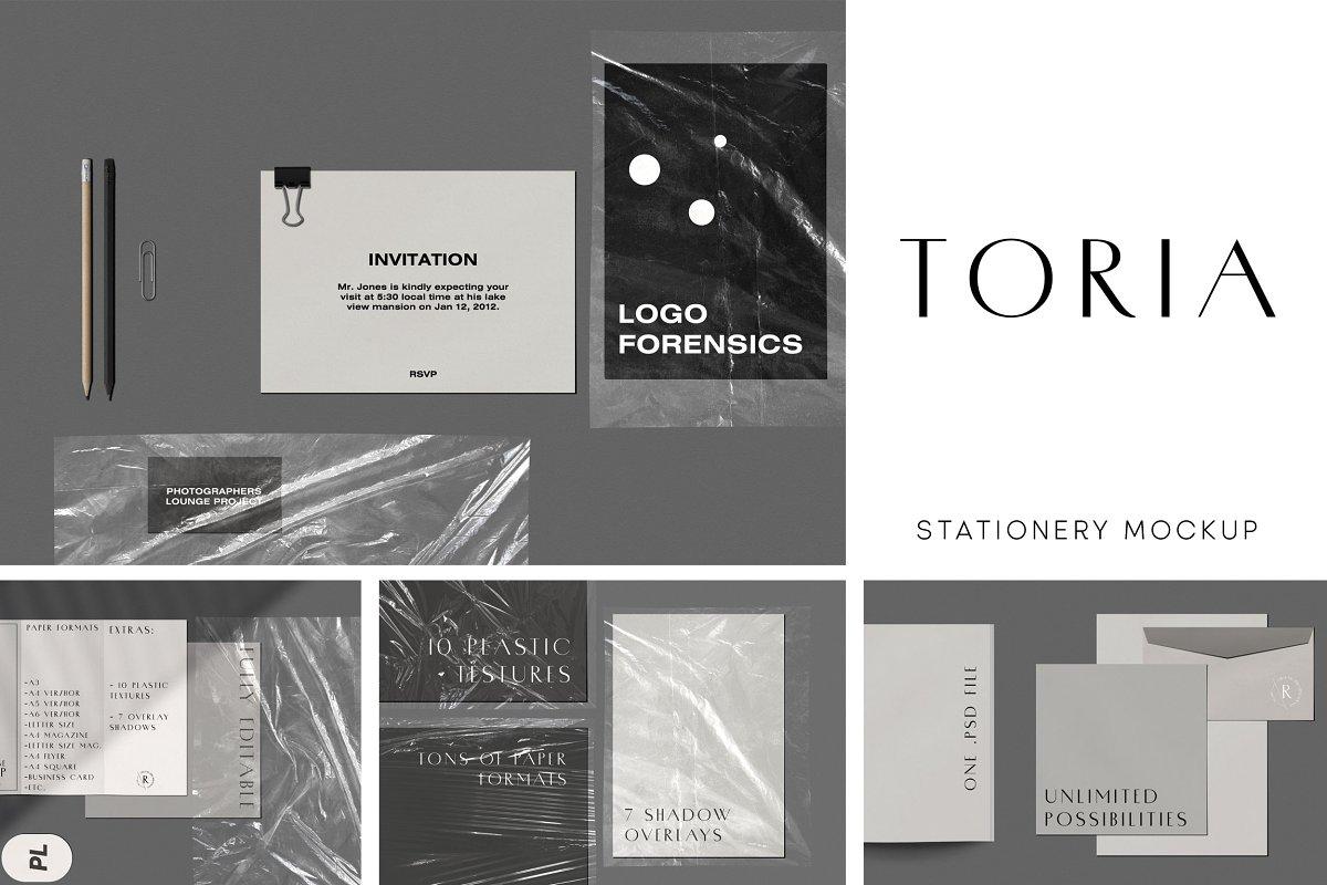 Toria Stationery Mockup Scene Kit ~ Scene Creator Mockups
