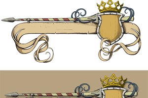 Color Banner spear and crown