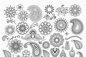 Hand drawn swirls. Paisley