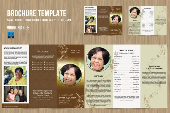 Trifold Funeral Program Template 184 Brochure Templates Creative