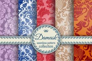 Damask seamless patterns
