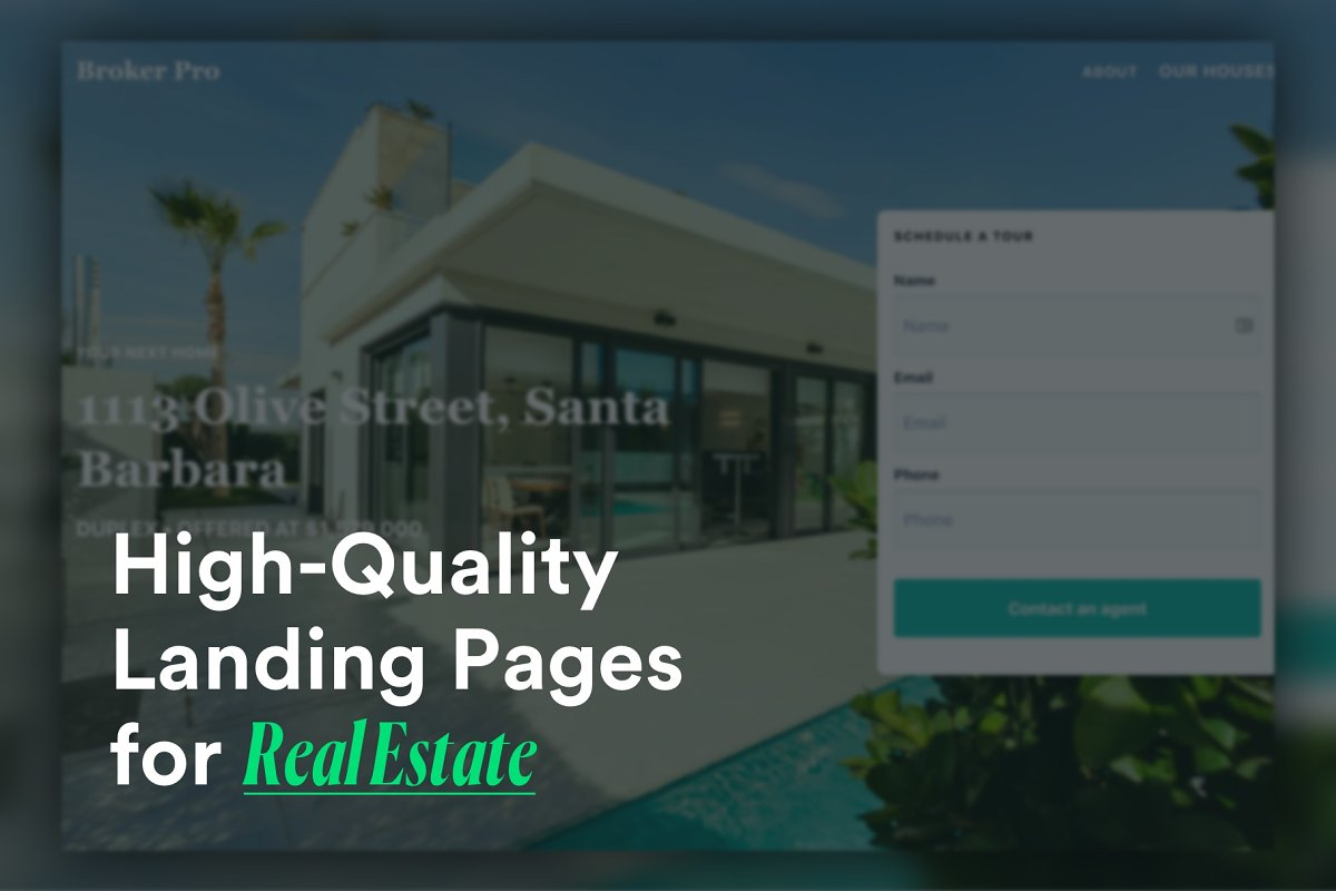 9 Real Estate Landing Pages Template