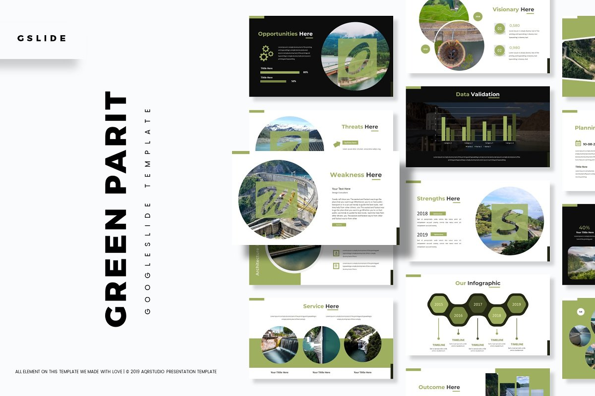 Green Parit - Google Slides Template ~ Presentation
