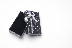 Small open black gift box top