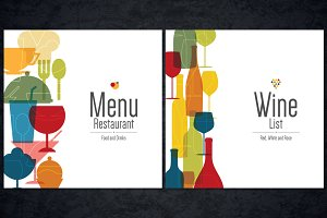 Menu and Wine list template