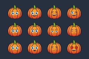 Cartoon Pumpkin Set