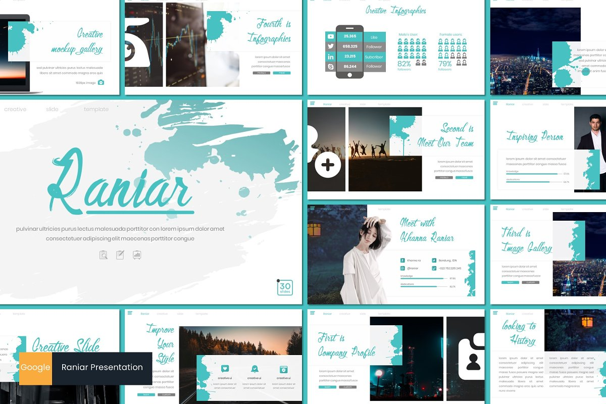 Raniar - Google Slides Template