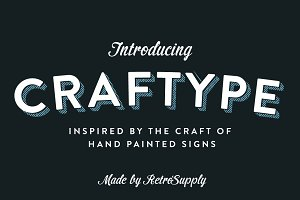 CraftType - 3D Sign Painting Actions