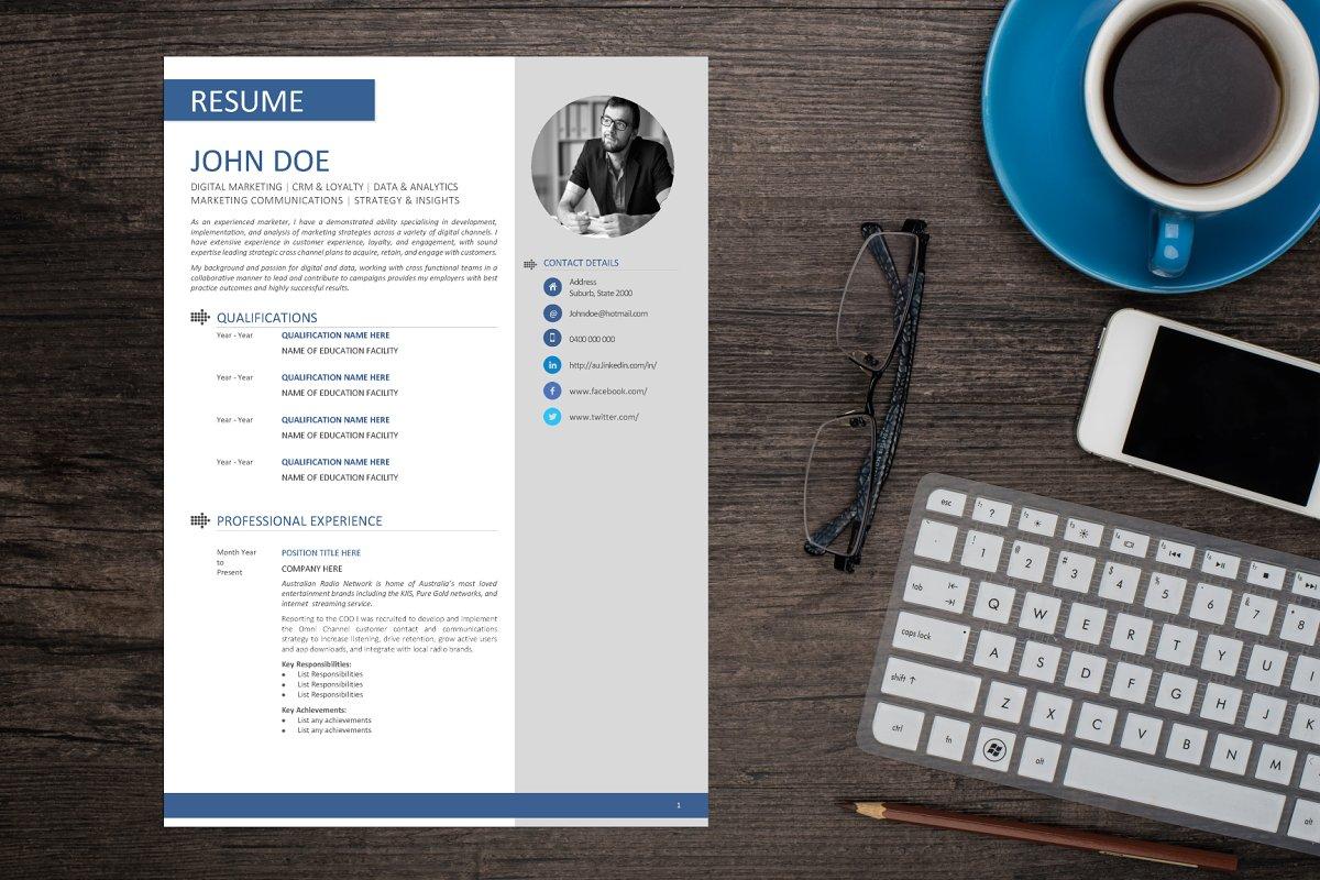 Clean Resume MS Word Template