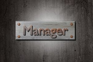 Manager sign board