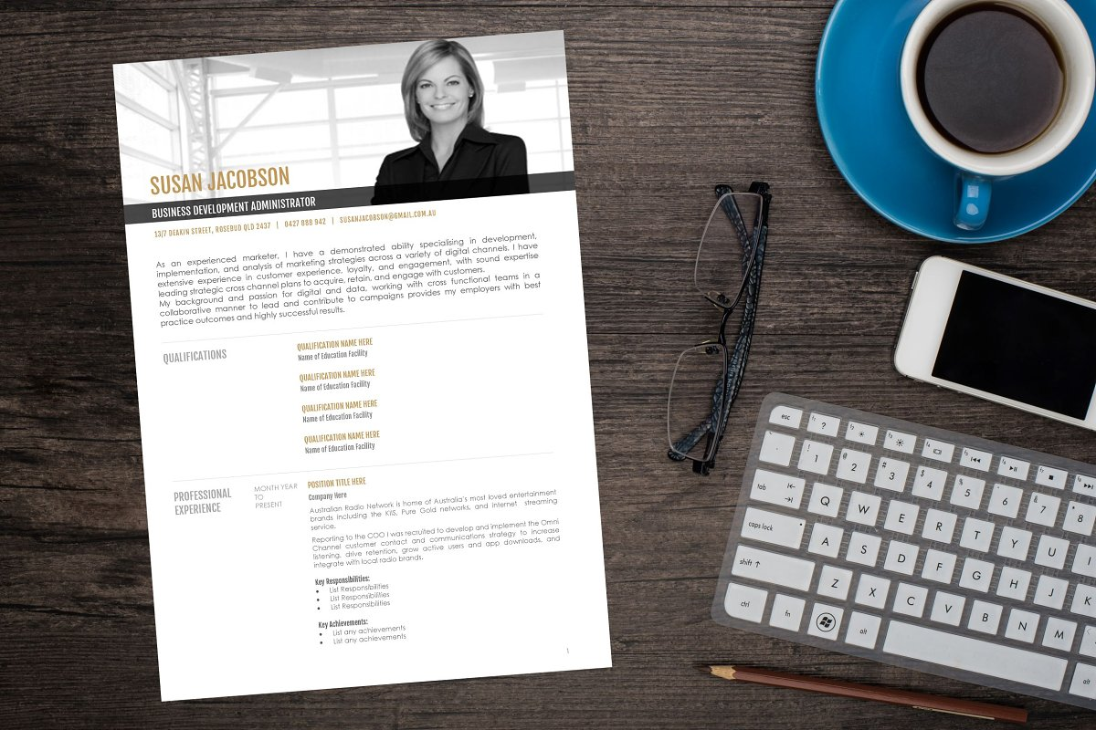 Executive Resume MS Word Template
