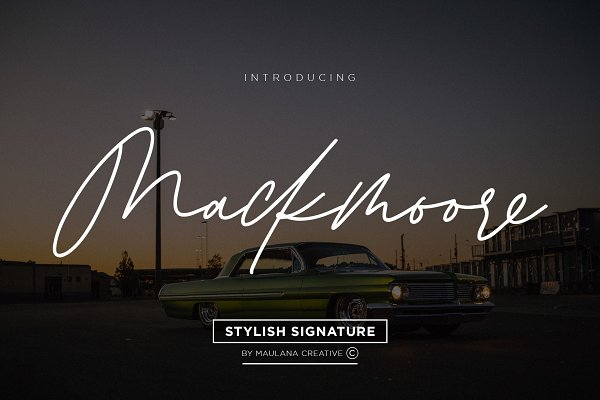 Best Mackmoore Signature Font Vector