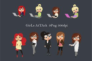 Girls attack / Png clipart