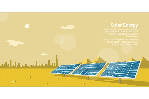 Renewable energy banner set