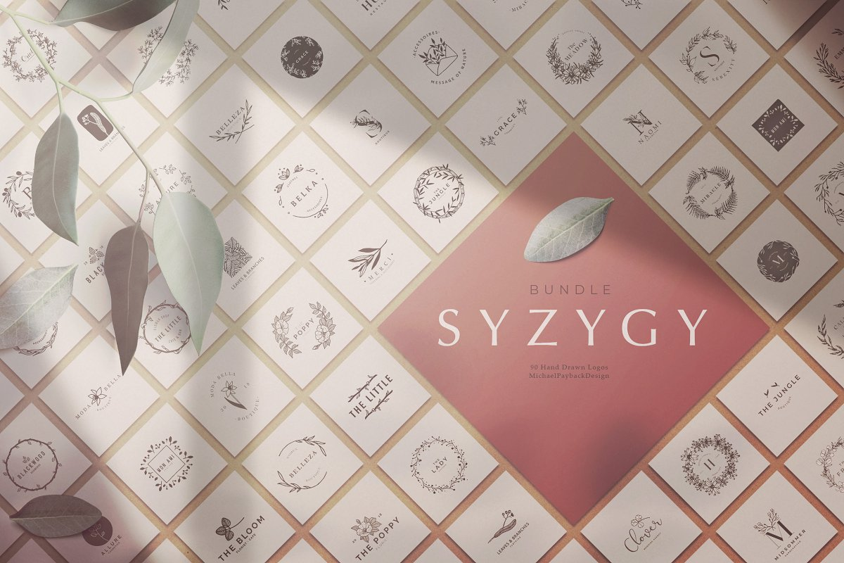 SYZYGY Bundle 90 Logos in Logo Templates - product preview 8