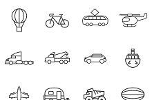 Set variety of transport lines