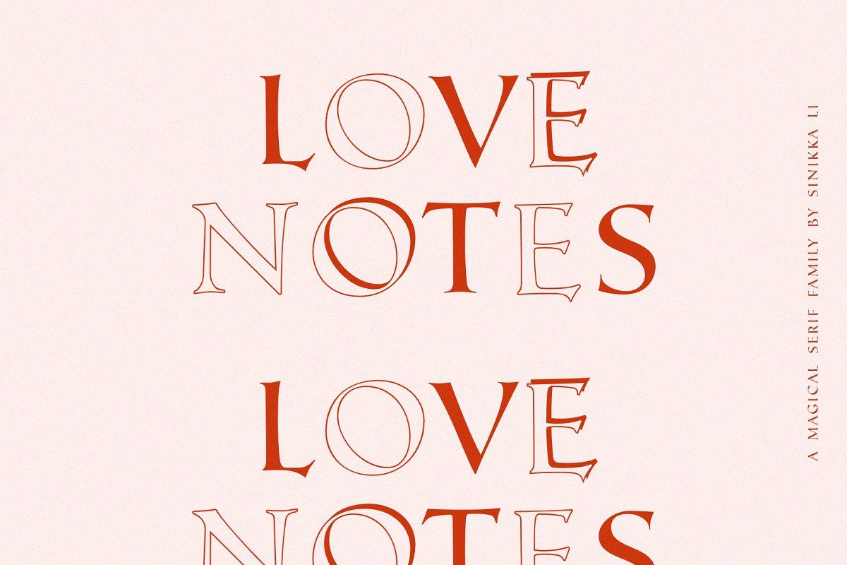 LOVE NOTES | SERIF FONT FAMILY