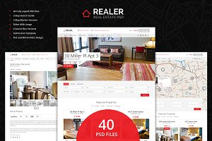 Realer - Real Estate PSD Template