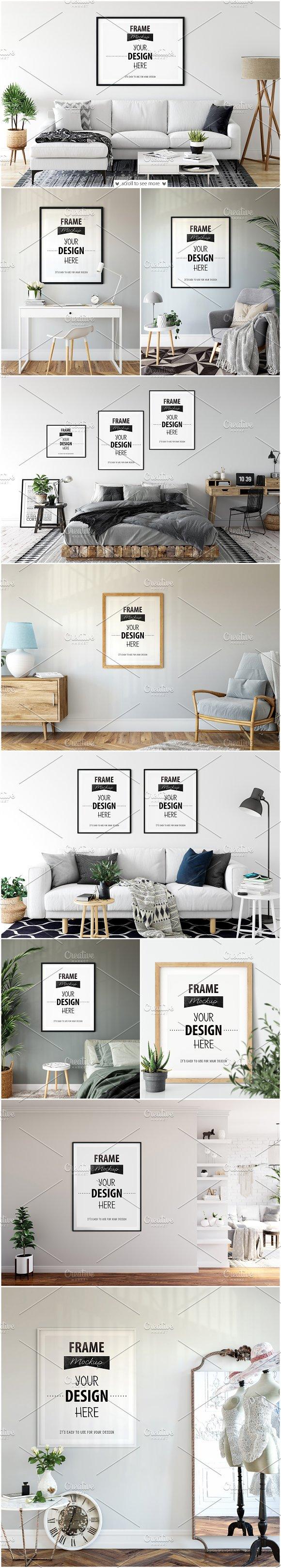 Frames & Walls Mockup Bundle - 12