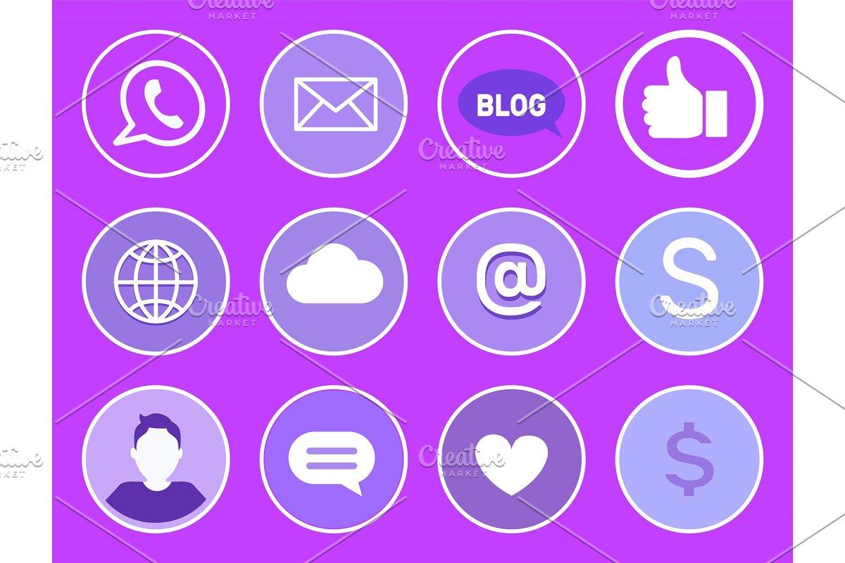 Social Network Mobile Phone Vector