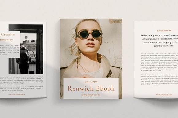 Renwick Ebook   Canva in Magazine Templates - product preview 2
