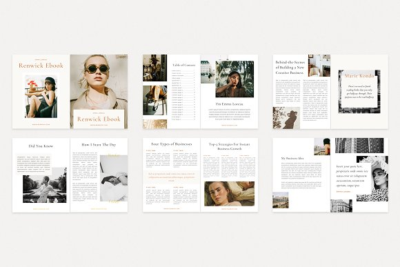 Renwick Ebook   Canva in Magazine Templates - product preview 10
