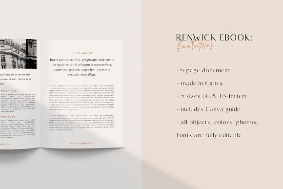 Renwick Ebook   Canva in Magazine Templates - product preview 12