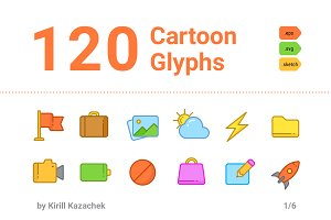 120 Cartoon Glyphs