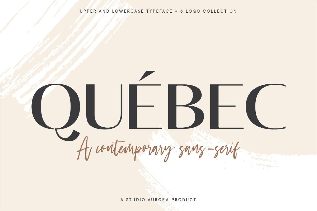 Quebec - Elegant Font and Logo Set