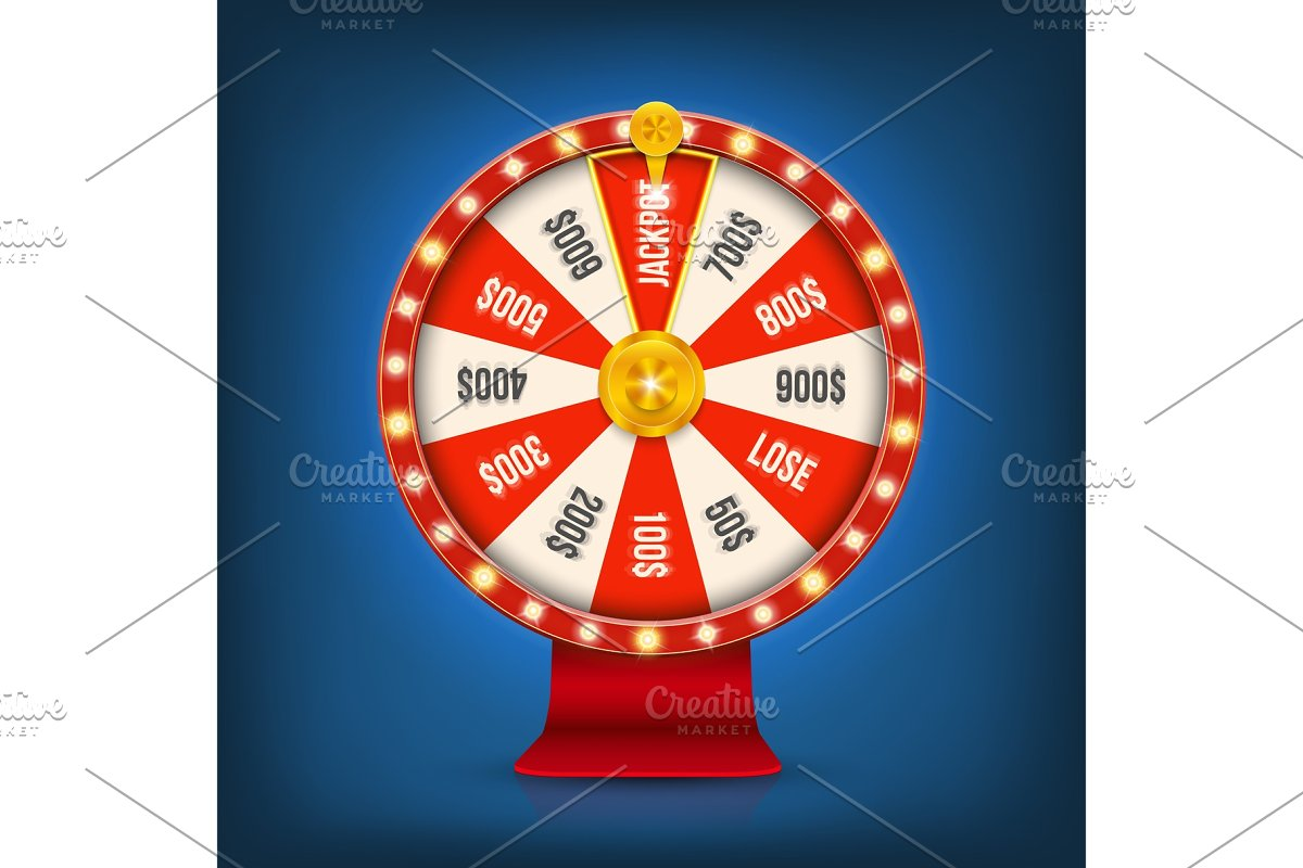 Fortune spinning wheel roulette