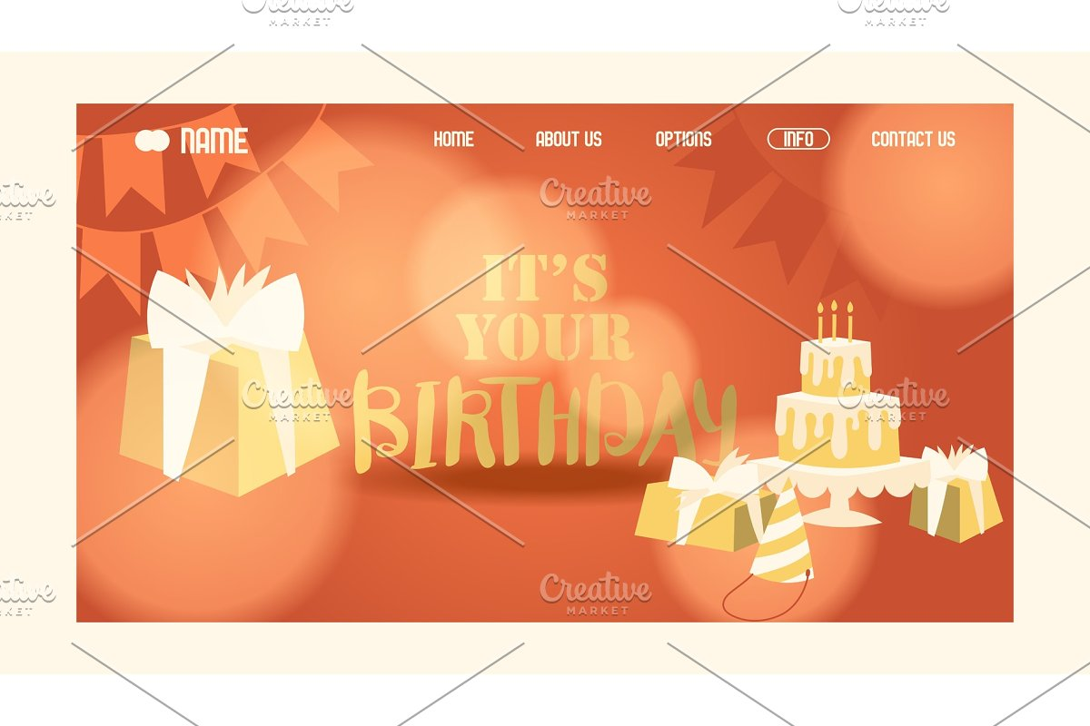 Happy birthday website page design