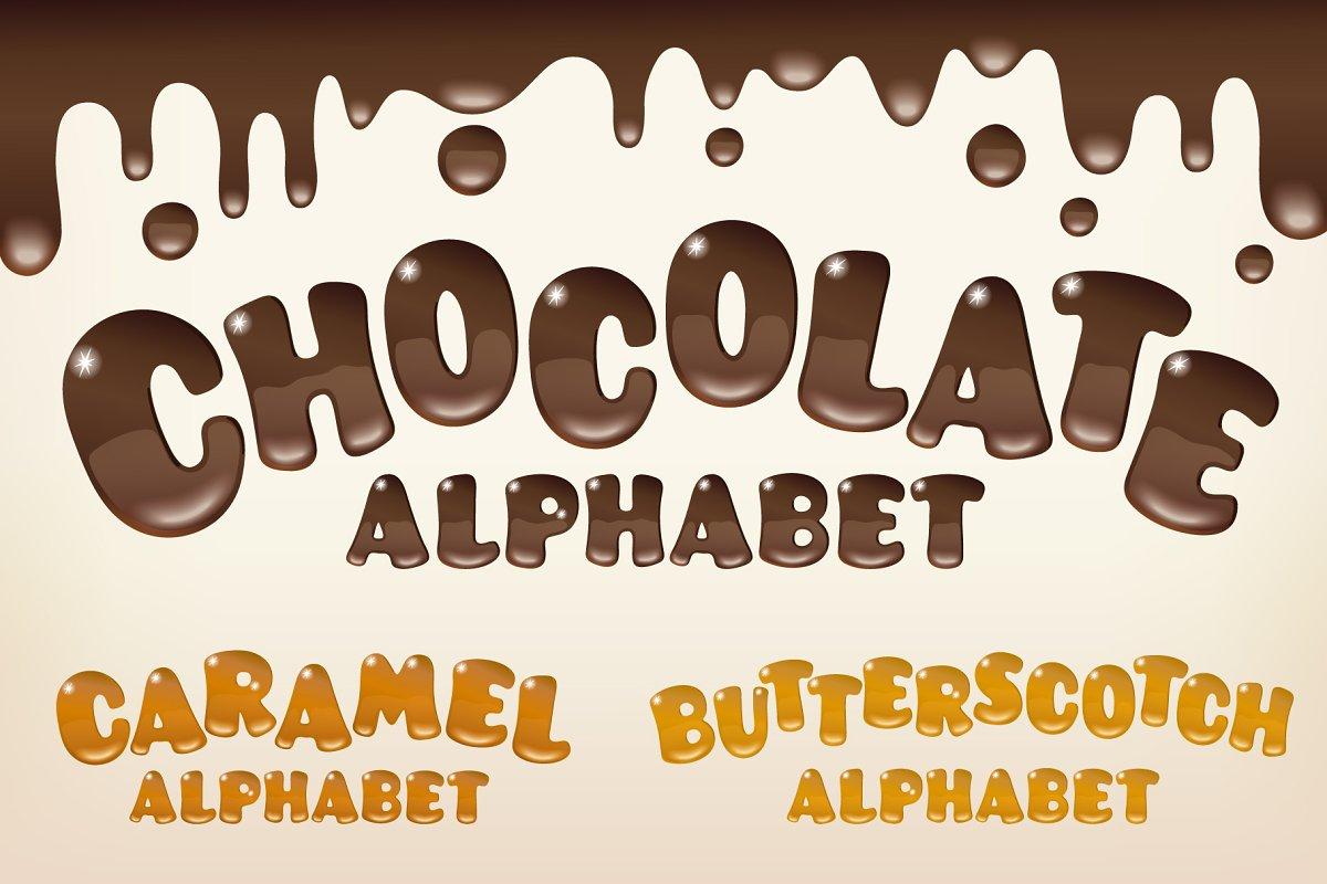 Chocolate Alphabet Trio